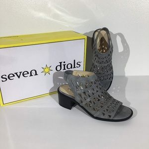 Sun Dial cut out ankle  lock heel booties - 5.5